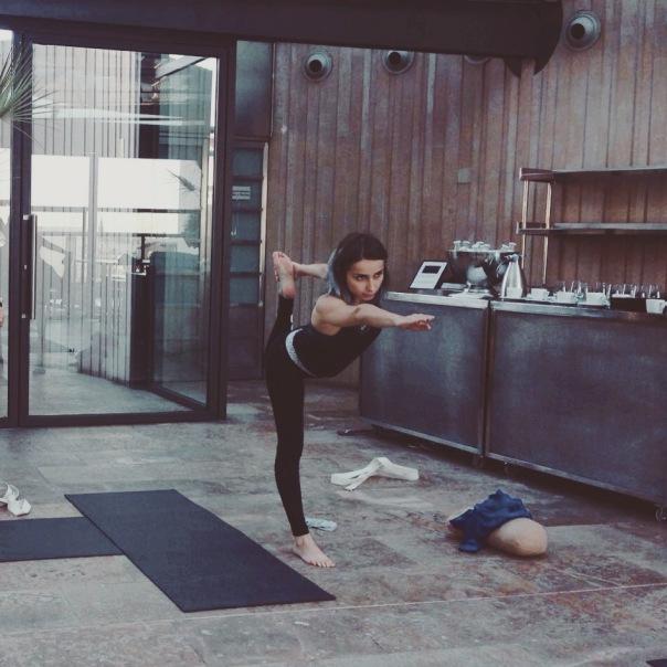Poco a poco avanzando en mi práctica de yoga